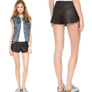 Rails phyton lambskin leather track shorts XS/S